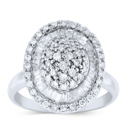 WLR83646W | Halo Ladies Engagement Ring | Payroll Jewelry