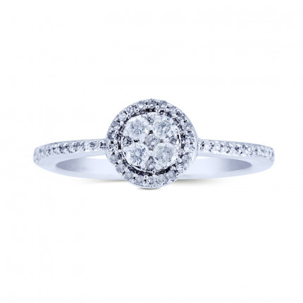 WLR87W | Halo Rings | Payroll Jewelry