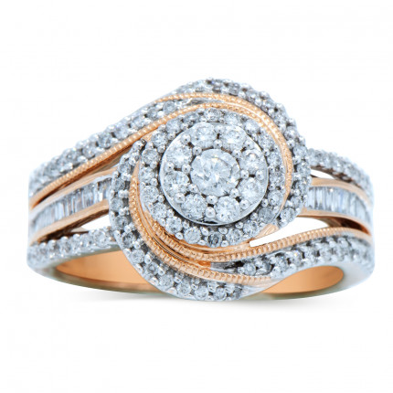 WLR88347P   Halo Engagement Ring   Payroll Jewelry