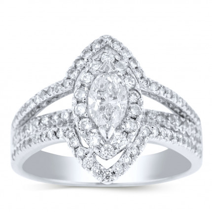 WS120766W | Halo Engagement Ring | Payroll Jewelry