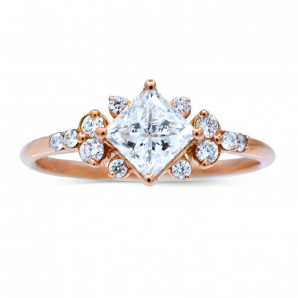 WS121401P | Side Stone Engagement Ring | Payroll Jewelry