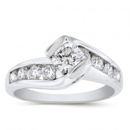 WS14903W | Side Stone Engagement Ring | Payroll Jewelry