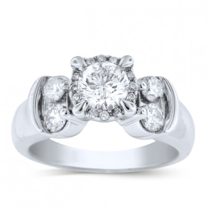 WS16864W | Halo Engagement Ring | Payroll Jewelry