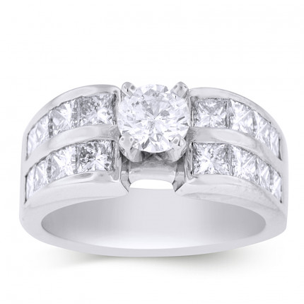 WS16PRW | Side Stone Engagement Ring | Payroll Jewelry