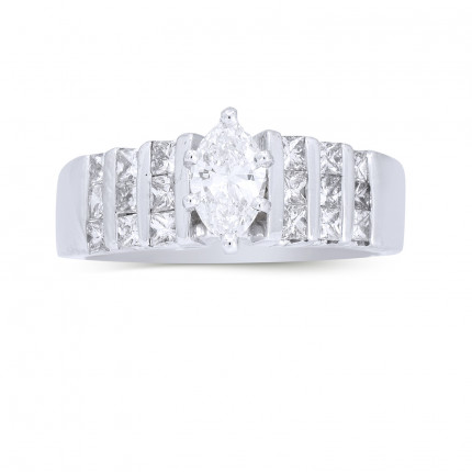 WS18707W   Side Stone Engagement Ring   Payroll Jewelry