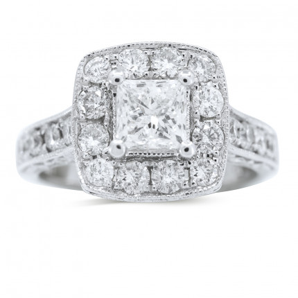 WS18905W | Halo Engagement Ring | Payroll Jewelry