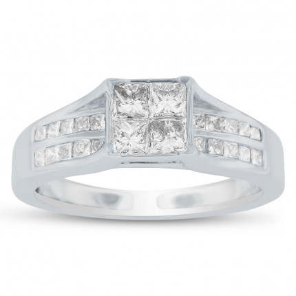 WSF32397W | Side Stone Engagement Ring | Payroll Jewelry