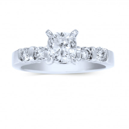WS41052W | Side Stone Engagement Ring | Payroll Jewelry