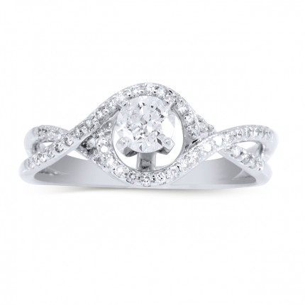 WS44345W | Halo Engagement Ring | Payroll Jewelry