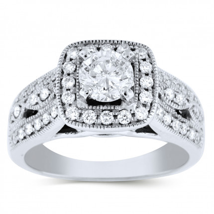 WS48986W | Halo Engagement Ring | Payroll Jewelry