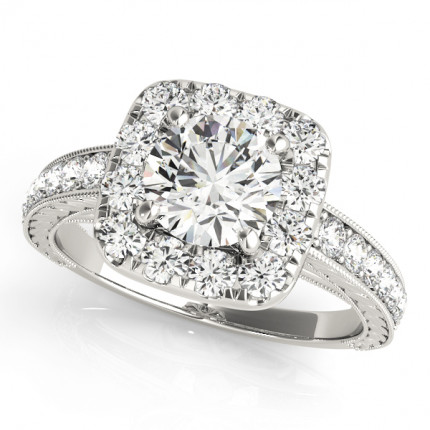 WS50875W-66 | Halo Engagement Ring. | Payroll Jewelry