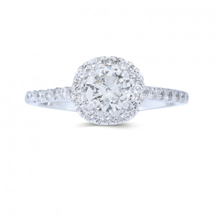 WS511W | Halo Rings | Payroll Jewelry