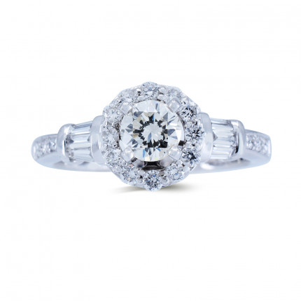 WS542W | Halo Rings | Payroll Jewelry