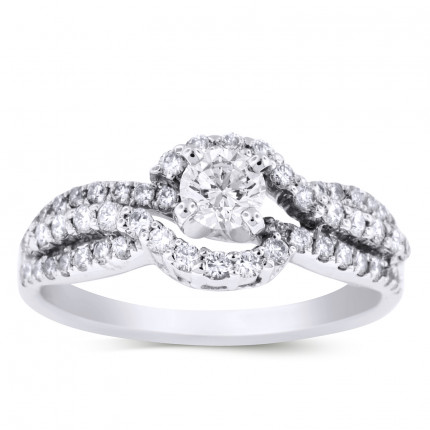WS56465W | Halo Engagement Ring | Payroll Jewelry