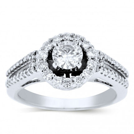WS56644W | Halo Engagement Ring | Payroll Jewelry