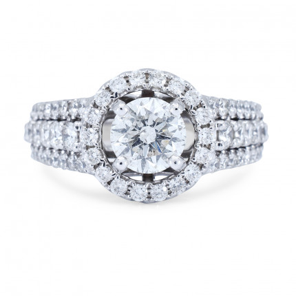 WS601744W | Halo Rings | Payroll Jewelry