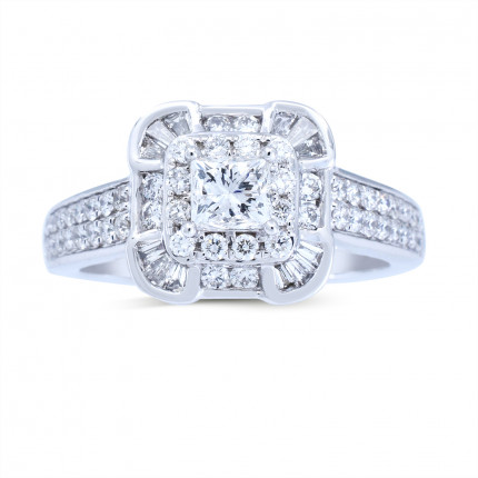 WS661586W   Halo Rings   Payroll Jewelry