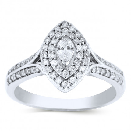 WS66201W | Halo Ladies Engagement Ring | Payroll Jewelry