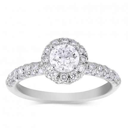 WS69620W | Halo Engagement Ring | Payroll Jewelry