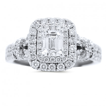 WS70998W | Halo Engagement Ring | Payroll Jewelry
