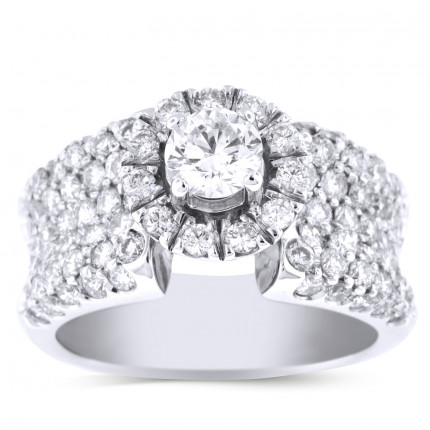 WS941202W | Halo Engagement Ring | Payroll Jewelry