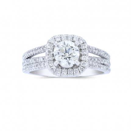 WS972W | Halo Rings | Payroll Jewelry