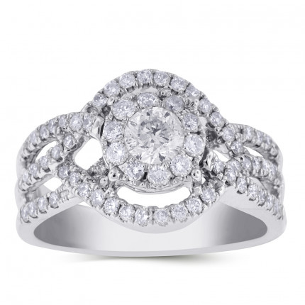 WS98561W | Halo Ladies Engagement Ring | Payroll Jewelry