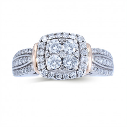 WSF462PW | Halo Rings | Payroll Jewelry