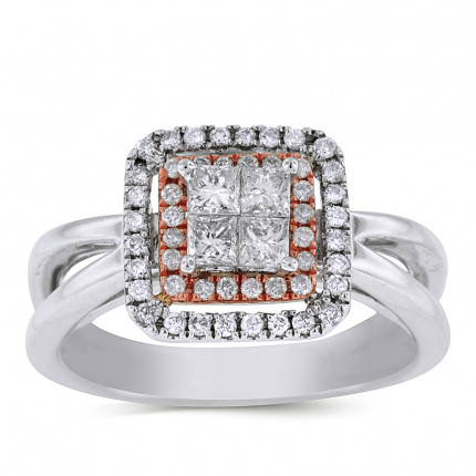 WSF52382PW | Halo Ladies Engagement Ring | Payroll Jewelry