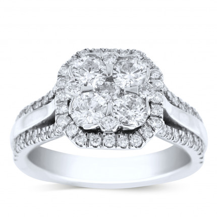 WSF69794W   Halo Ladies Engagement Ring   Payroll Jewelry