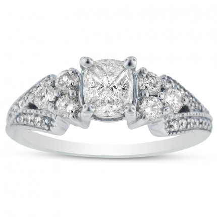 WSF71138W   Side Stone Engagement Ring   Payroll Jewelry