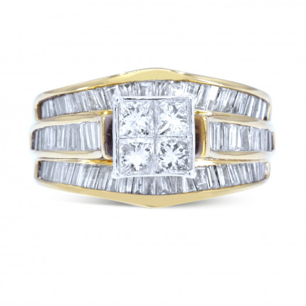 WSF86Y | Side Stone Ladies Yellow Gold Ring | Payroll Jewelry
