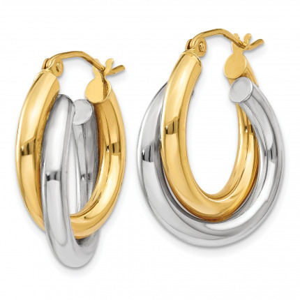 Z795 | Gold Hoop Earrings | Payroll Jewelry