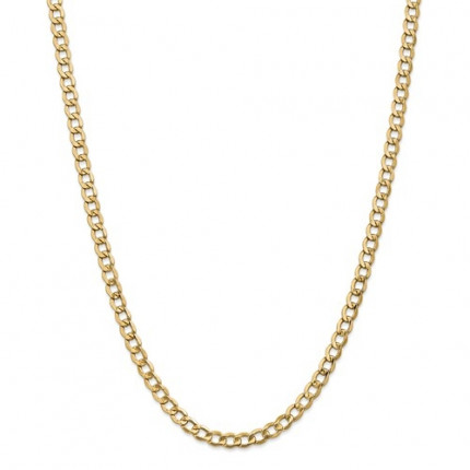 6.5mm Curb Chain | 14K Yellow Gold | 24 Inch