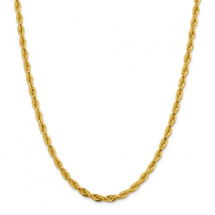 3mm Rope Chain | 14K Yellow Gold | 16 Inch