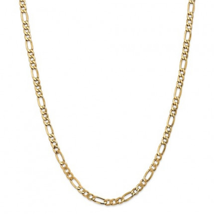 7.3mm Figaro Chain | 14K Yellow Gold | 24 Inch