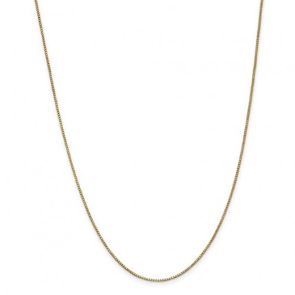 1mm Box Chain | 14K Yellow Gold | 18 Inch