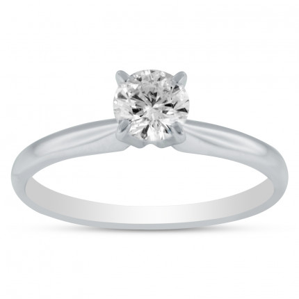 BR330W | Solitaire Engagement Ring | Payroll Jewelry