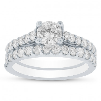 BR4526EW1 | Wedding Set Engagement Ring | Payroll Jewelry