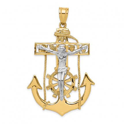 C1419 | Gold Cross Pendant | Payroll Jewelry
