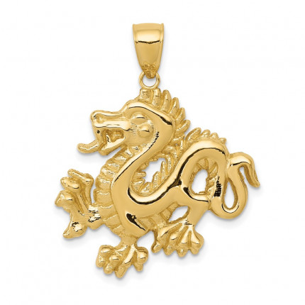 C2380 | Gold Dragon Pendant | Payroll Jewelry