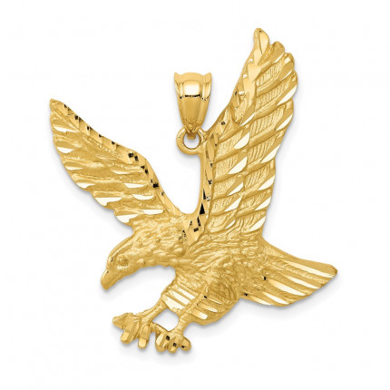 C2423 | Gold Eagle Pendant | Payroll Jewelry