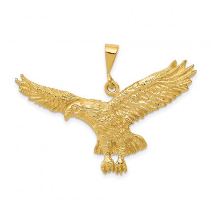 C2435 | Gold Eagle Pendant | Payroll Jewelry