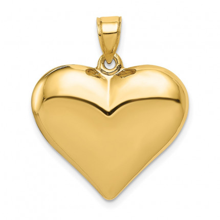 C2913 | Gold Heart Pendant | Payroll Jewelry