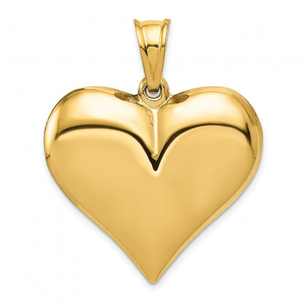 C2914 | Gold Heart Pendant | Payroll Jewelry