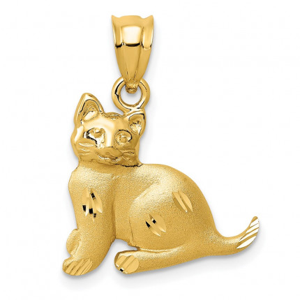 C30 | Gold Cat Pendant | Payroll Jewelry