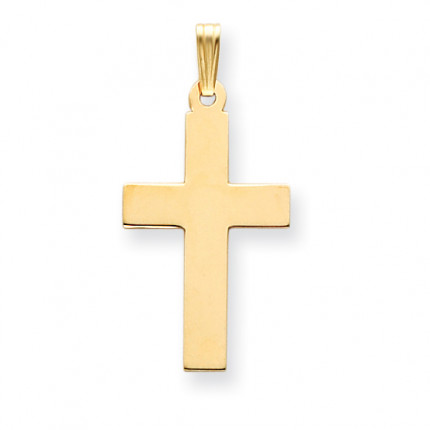 C3603 | Gold Cross Pendant | Payroll Jewelry