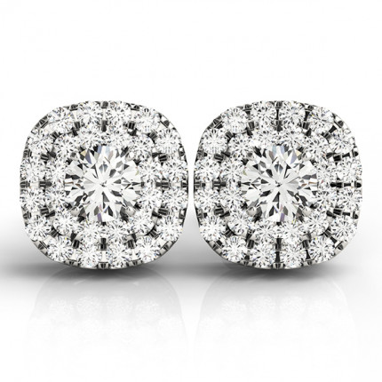 CJ41001W-1/2 | Cluster Earrings. | Payroll Jewelry