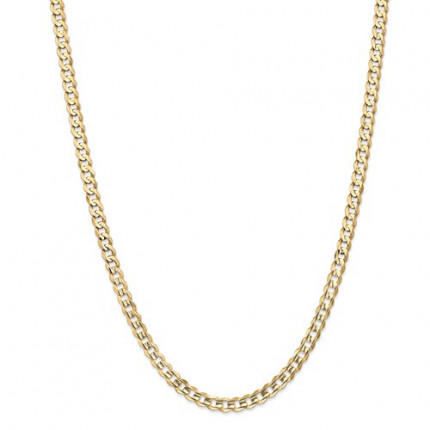 7mm Curb Chain | 10K Yellow Gold | 24 inch