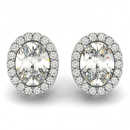 ER40590-3/4ct | Cluster Earrings. | Payroll Jewelry